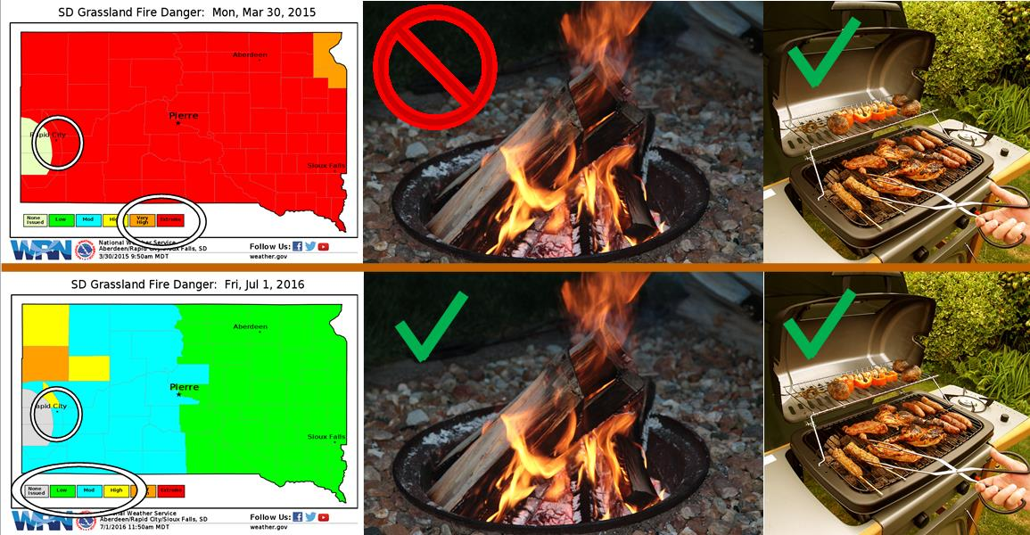 Outdoor burning ban info banner for web page
