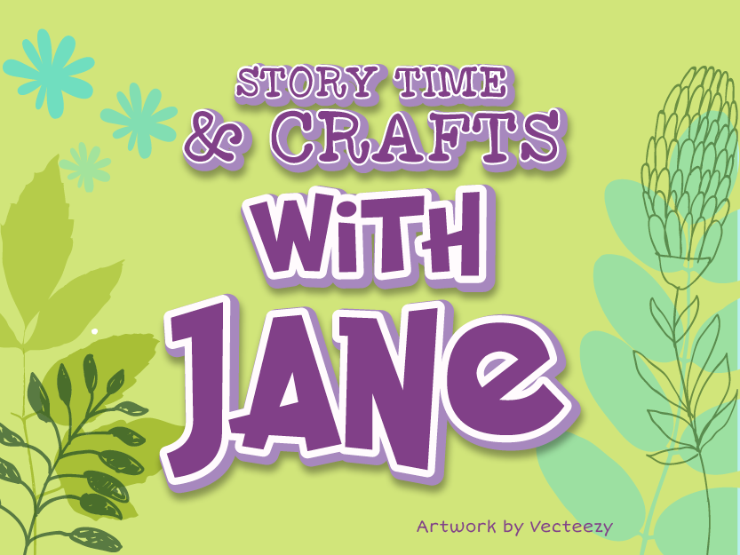 Library Teaser Jane Story Time April 2019