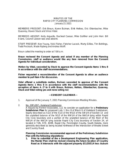 2021 1 21 Planning Commission Minutes