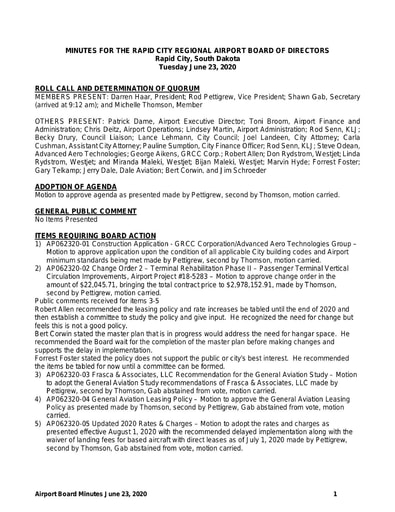 20200623 Airport Board Minutes
