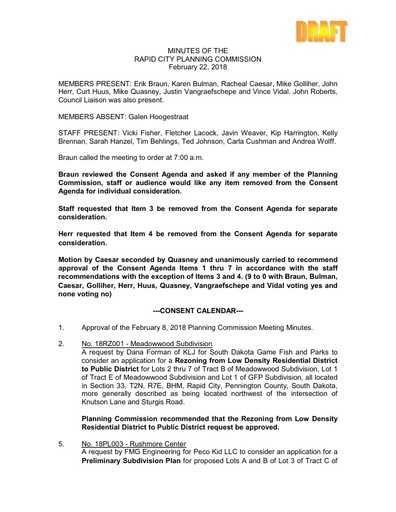 2018 02 22 Planning Commission Minutes