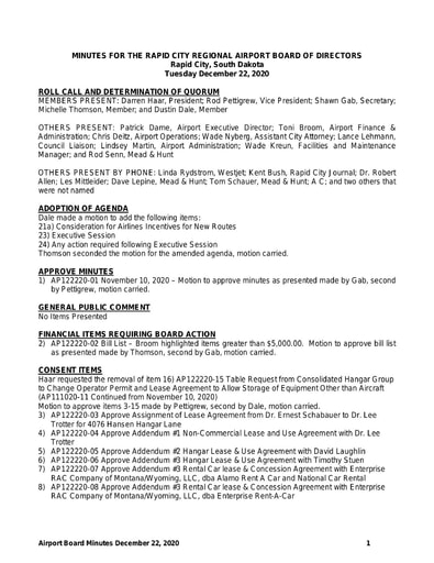 20201222 Airport Board Minutes