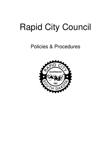 City Council Policies and Procedures