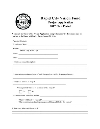 Vision Fund Project Application