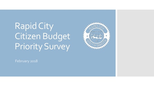 Citizen Priority Survey Results Presentation