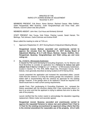 2017 Zoning Board of Adjustment & Planning Commission