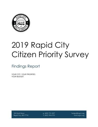 Rapid City Citizen Priority Survey Report