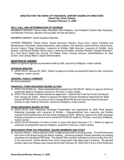 20200211 Airport Board Minutes
