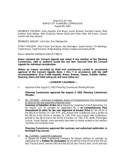 2021 08 26 Planning Commission Minutes