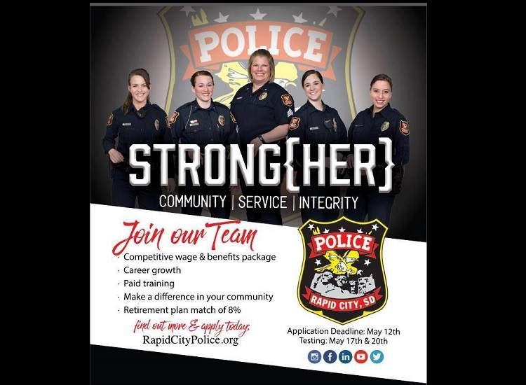 Rapid City Police Department is seeking strong, dedicated, community-oriented people.