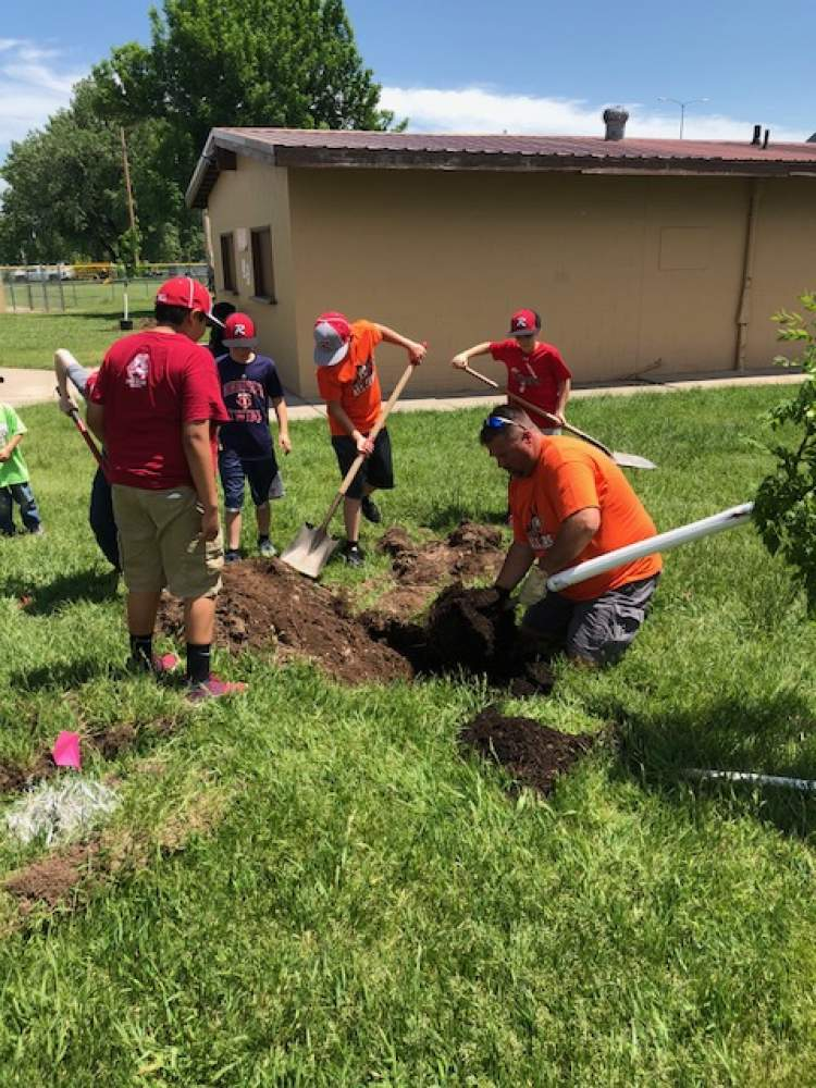 City Parks, Rushmore Little League Collaborate on Arbor Day Project