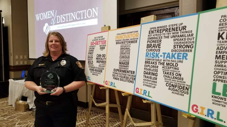 Lt. Cathy Bock recognized as 2017 Woman of Distinction