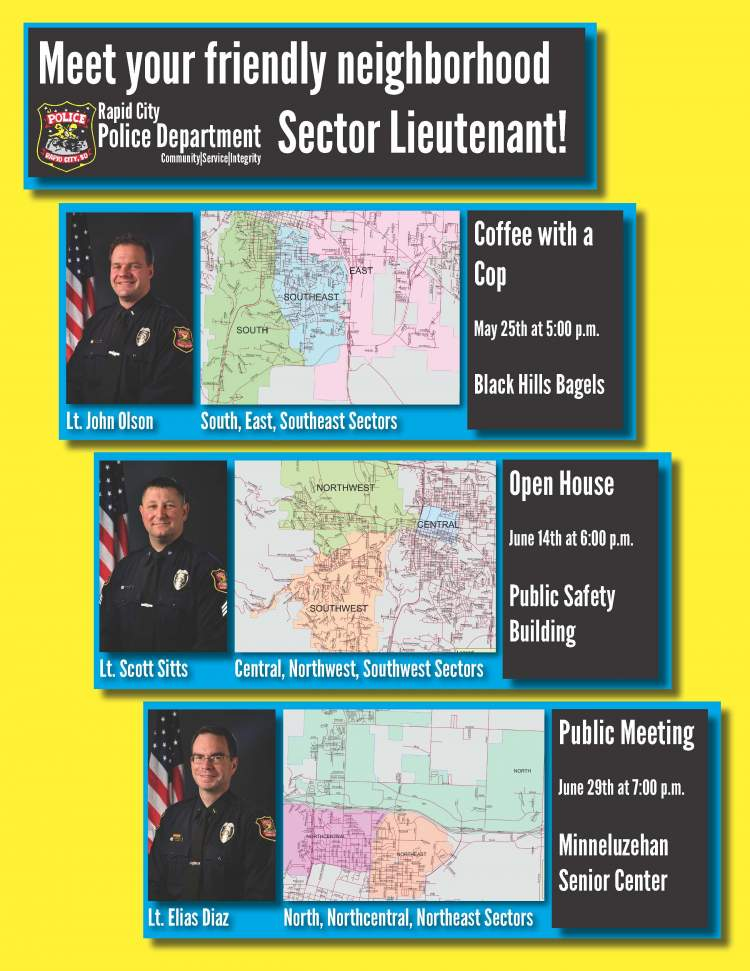 Rapid City residents encouraged to meet their neighborhood Sector Lieutenant