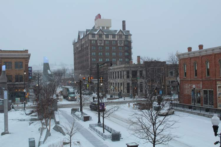 The City reminds residents of the Downtown Snow Alert policy and that residents can receive notifications of when an alert is declared by texting 'RCSnow' to 898211 through the 211 Helpline Center.