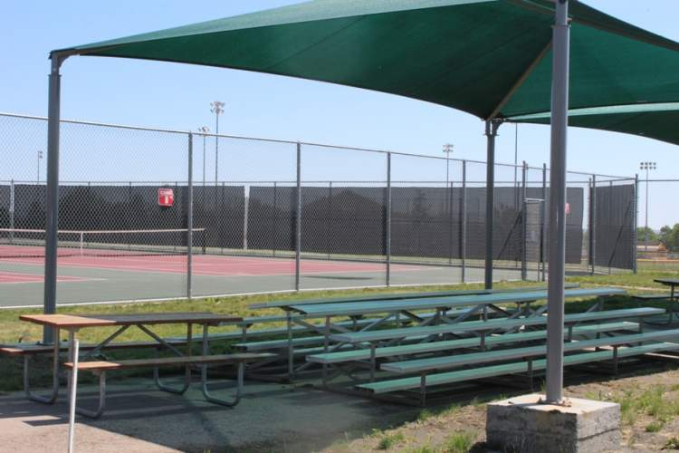 A donation of $14,000 from The Skin Institute built two new shade enclosures at the Rapid City Parks & Recreation's Parkview Tennis Courts.
