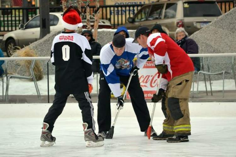 RCPD/RCFD broomball game marks 10 years of friendly competition to benefit local kids