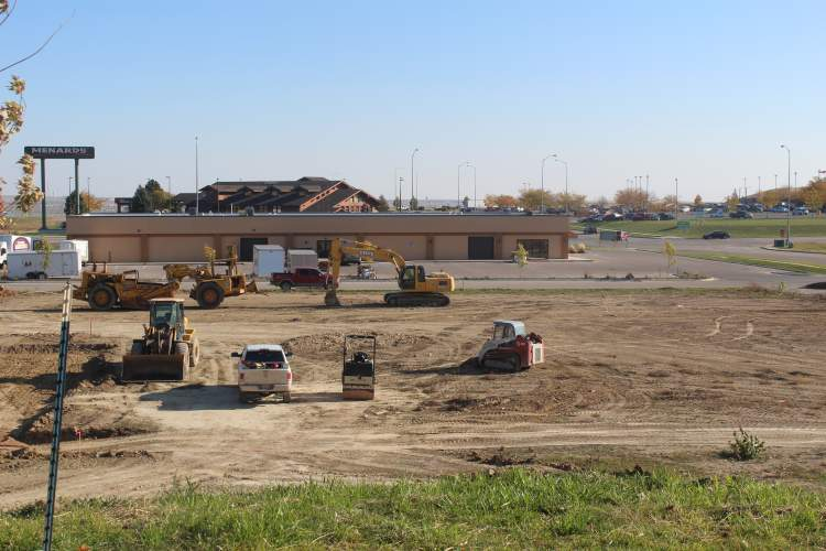 In this file photo, considerable building activity taking place near Menards.  In February, the City issued $27.9 million in building permit valuation.
