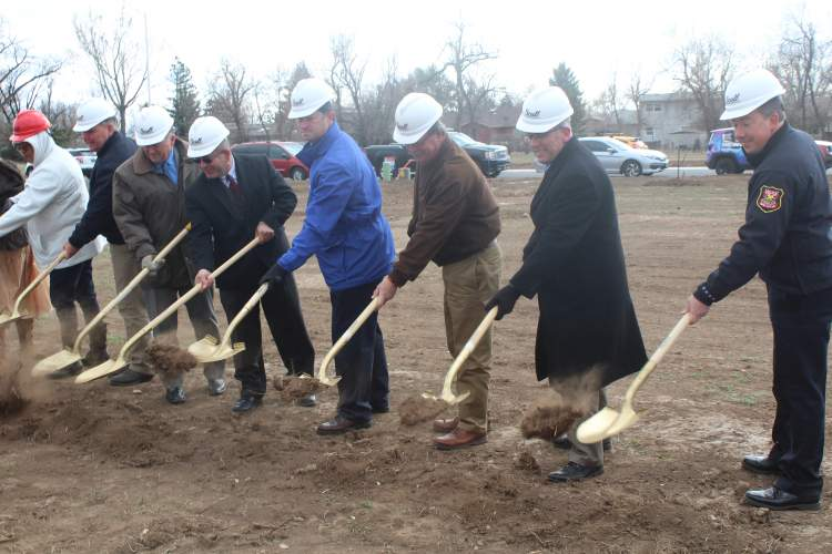 Ground was broken on South Valley Drive for the new Rural America Initiatives facility.  Last December, the Rapid City Council approved allocating $2 million in Vision Fund resources to a new RAI facility.  Mayor Allender, Police Chief Karl Jegeris and several Council members were on hand for the groundbreaking ceremony.