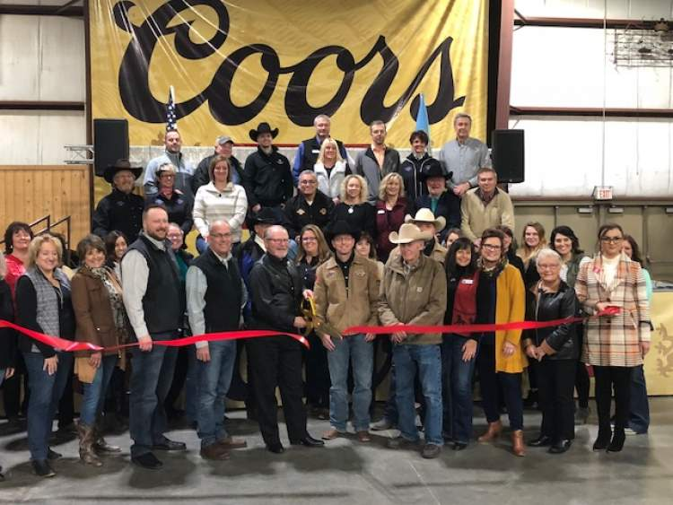 Ranchers, business, community, county and city officials along with Stock Show board members gathered to cut the ribbon officially kicking off the 61st annual Black Hills Stock Show and Rodeo.