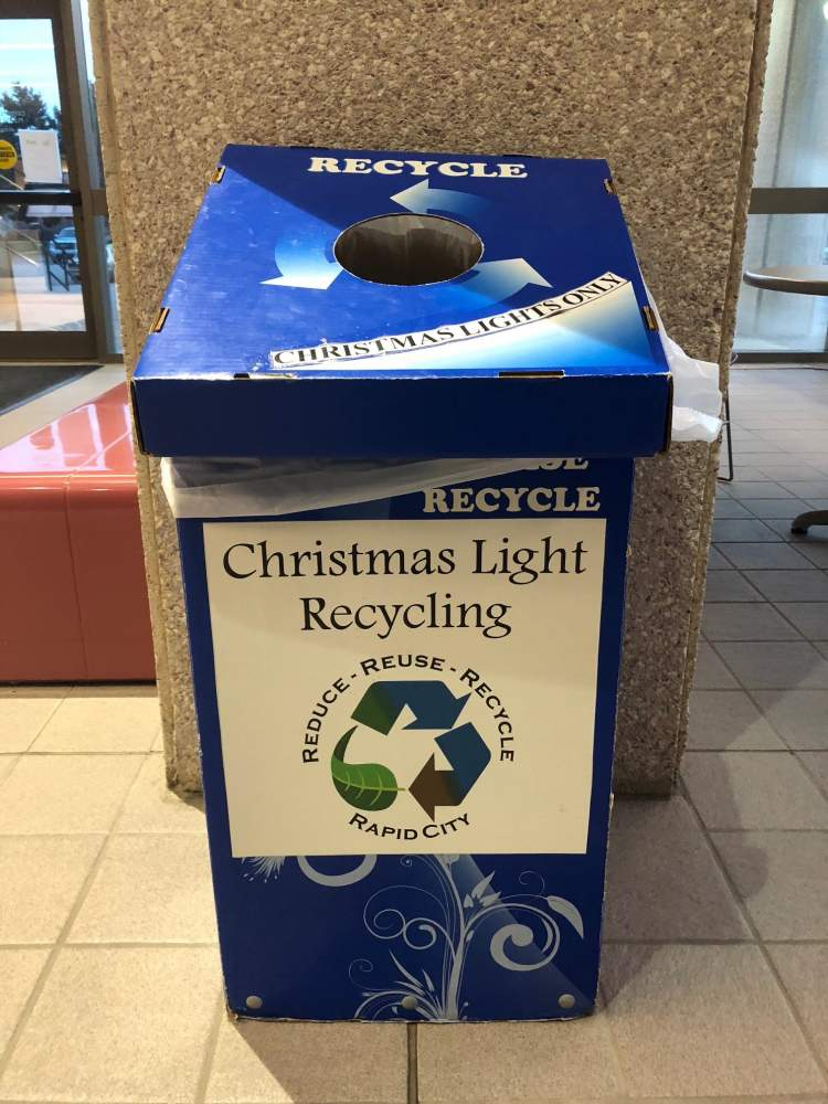 City residents turned in more than 3,300 pounds - over a ton and a half - of non-working holiday lights for recycling during the holiday period.
