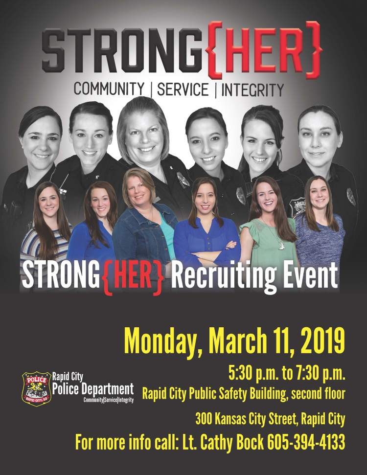 The RCPD is hiring officers, kicking off recruitment efforts with STRONG{HER} event
