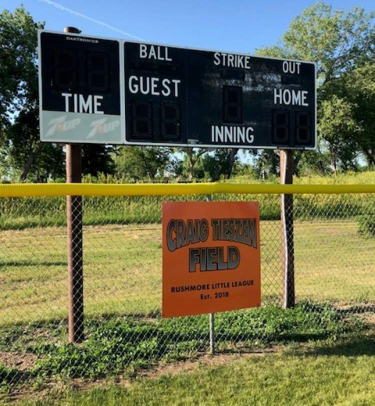 City, Rushmore Little League, family and friends honor Craig Tieszen