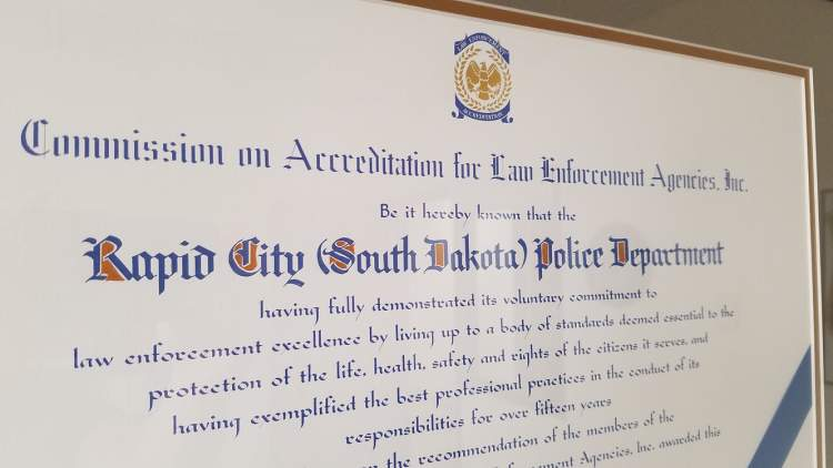 The RCPD is the only accredited law enforcement agency in the State of South Dakota