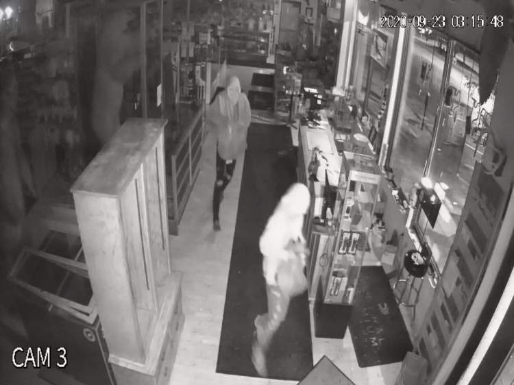 Surveillance image of two burglary suspects