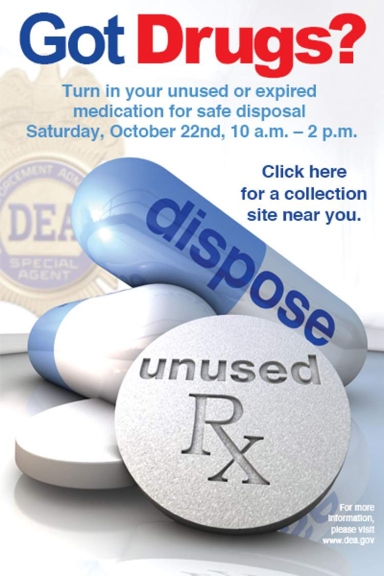 National Prescription Drug Take-Back Day set for October 22nd