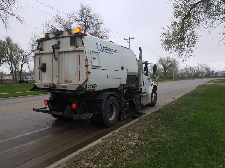 One of the City's Street Sweepers will be on static display at the National Public Works Week exhibit at Main Street Square May 23.  The event will also include booths, activities and City staff interaction.
