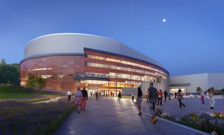 Officials Release Architect's Rendering of New Arena Facility Exterior